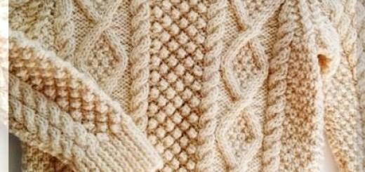 свитер аранской вязки