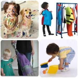 collage дети уборка