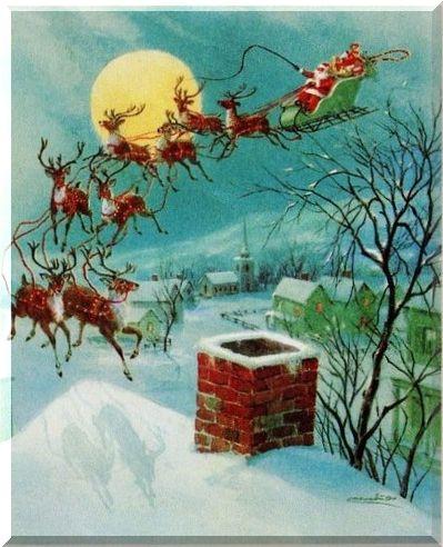 Санта на оленях 75