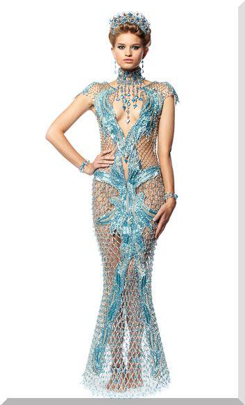 платья из бисера 7301
