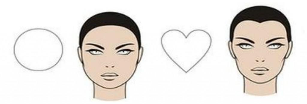 форма лица круглая и сердечко