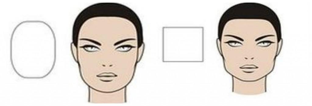 форма лица овальная и квадратная