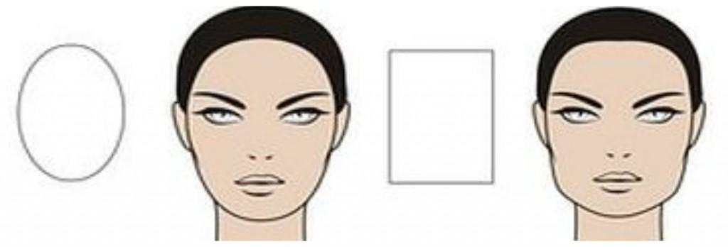 форма лица вытянутая и прямоугольная
