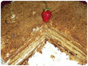 торт медовик сметанник