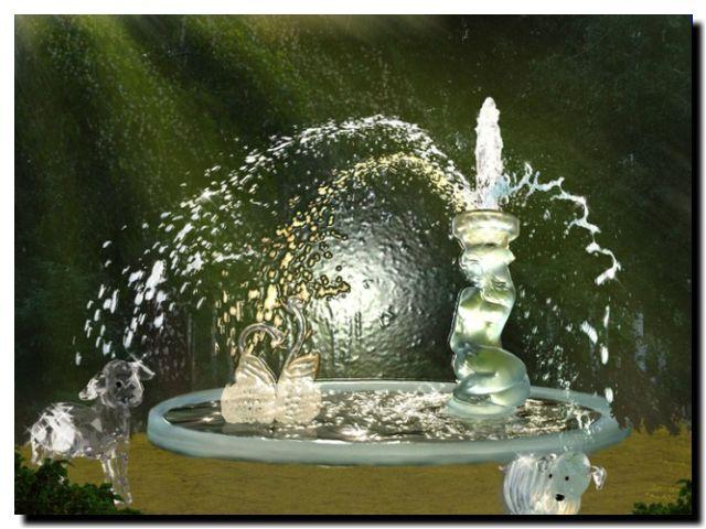 фонтан с родниковой водой