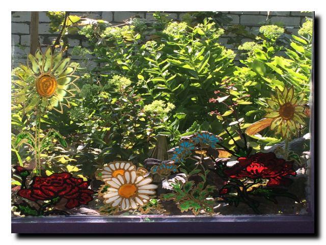 окно в лето заливной витраж