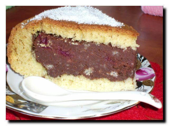 торт вишнево-шоколадный готово