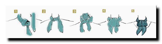 завязать шейный платок стильно