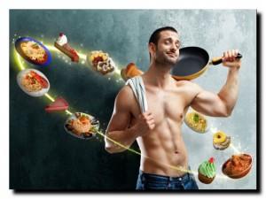 мужчина и диета