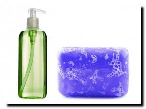 мыло обычное или жидкое