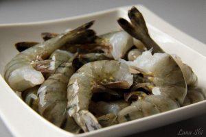 Запечённый лосось с креветками