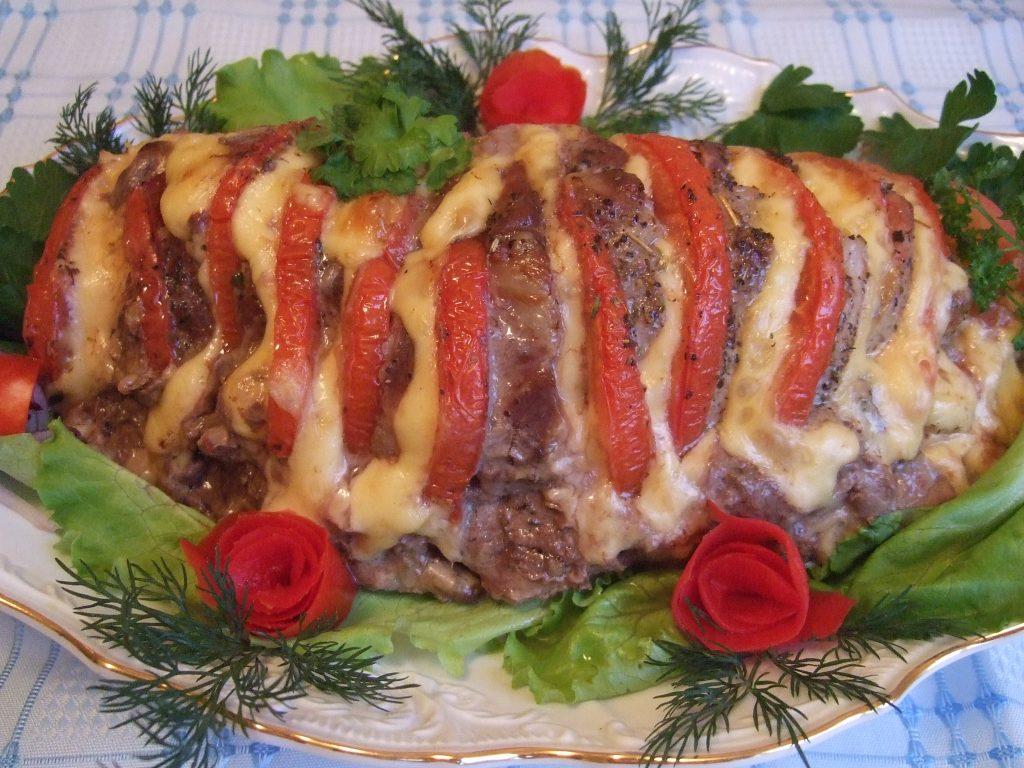 Мясо по французски с помидором рецепт пошагово с