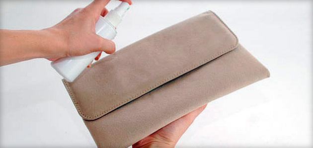 Советы по чистке замшевой сумки