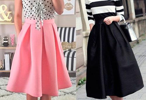 Выбираем ткань для пошива юбки.