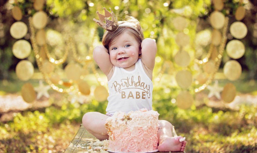Празднование дня рождения годовалой девочки
