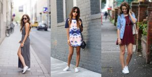 Кроссовки и платье – сочетаем не сочетаемое