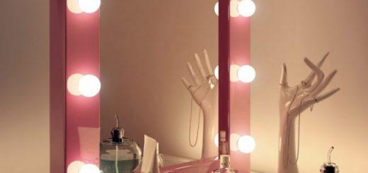 Гримерное зеркало в интерьере