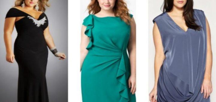 Красивые вечерние платья для пышных дам