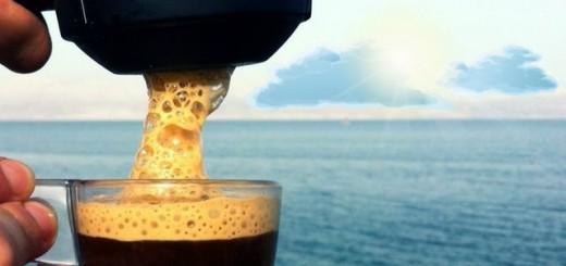кофе на море