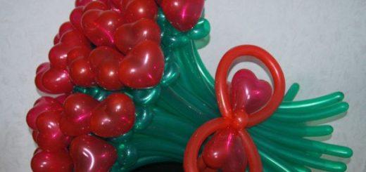 шарики в букете фото
