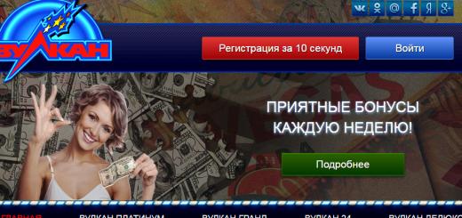 Обзор казино вулкан Слотс