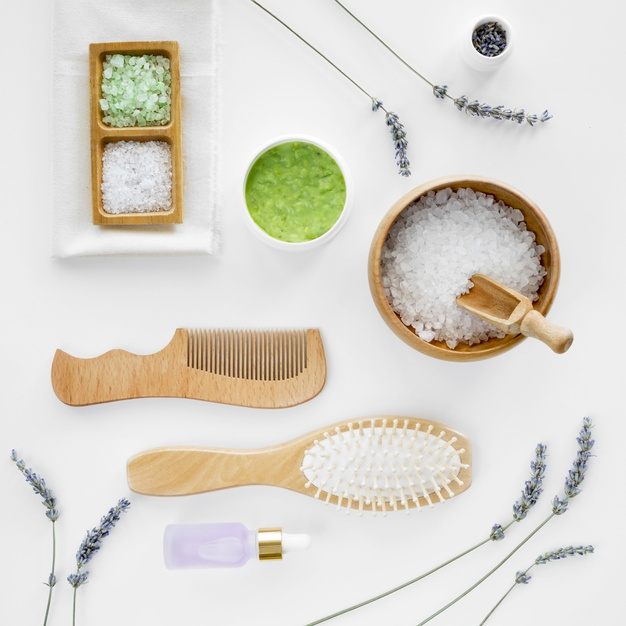 salt and hair brushes spa natural cosmetics 23 2148645539